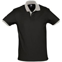 Textil Polos mangas curta Sols PRINCE COLORS Negro