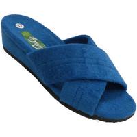 Sapatos Mulher Chinelos Vanity Flip-flops ser casa mulher duas tiras cr azul