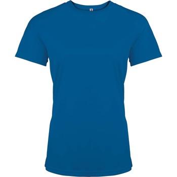 Textil Mulher T-Shirt mangas curtas Proact T-Shirt femme manches courtes  Sport bleu marine