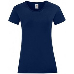 Textil Mulher T-Shirt mangas curtas Fruit Of The Loom 61432 Marinha