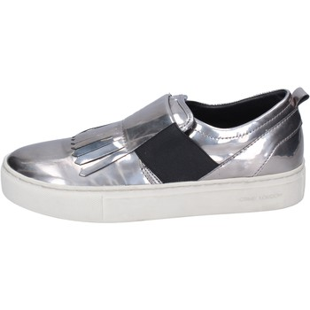 Sapatos Mulher Slip on Crime London Sneakers BN383 Prata