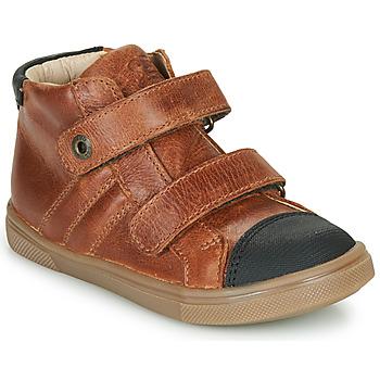 Sapatos Rapaz Sapatilhas de cano-alto GBB KERWAN Castanho