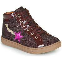 Sapatos Rapariga Sapatilhas de cano-alto GBB TADEA Bordô
