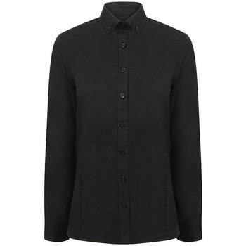 Textil Mulher camisas Henbury HB513 Preto