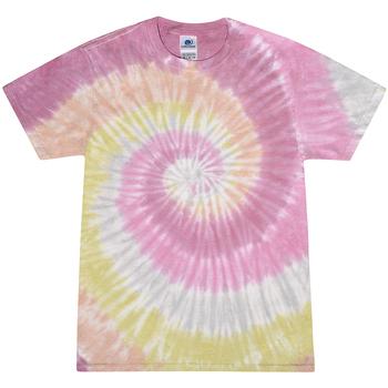 Textil Mulher T-Shirt mangas curtas Colortone Rainbow Rosa do Deserto
