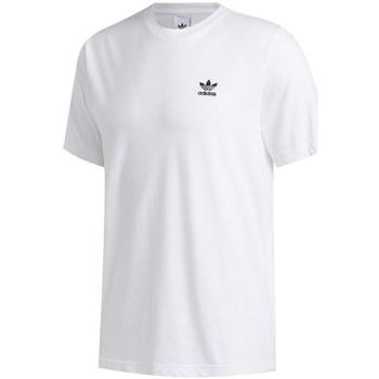 Textil Homem T-Shirt mangas curtas adidas Originals Trefoil Essential Tee Branco
