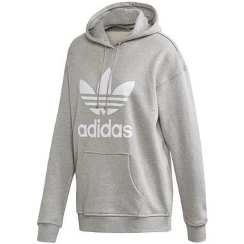 Textil Mulher Sweats adidas Originals Trefoil Hoodie Cinzento