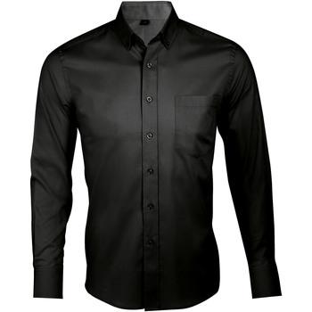 Textil Homem Camisas mangas comprida Sols BUSINESS MEN Negro