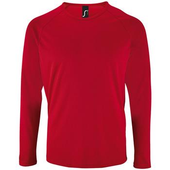 Textil Homem T-shirt mangas compridas Sols SPORT LSL MEN Rojo