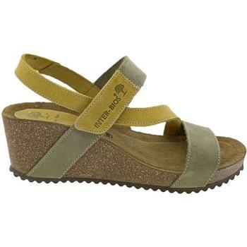 Sapatos Mulher Sandálias Interbios Sandalias  5635 Kaki Mostaza Verde