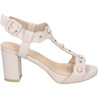 Sapatos Mulher Sandálias Brigitte sandali pelle sintetica beige