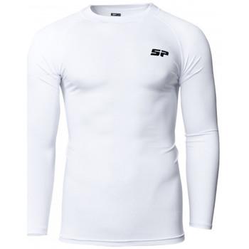 Textil Rapaz T-shirt mangas compridas Sp Fútbol Primeira capa Criança Branco