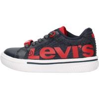 Sapatos Rapaz Sapatilhas Levi's - Future mega mini blu VFUT0042T-0603 BLU