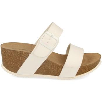 Sapatos Mulher Chinelos Silvian Heach M-08 Blanco
