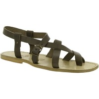 Sapatos Mulher Sandálias Gianluca - L'artigiano Del Cuoio 530 U FANGO CUOIO Fango