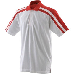Textil Homem Polos mangas curta Finden & Hales LV328 Branco/vermelho
