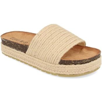 Sapatos Mulher Chinelos Silvian Heach L-19 Beige