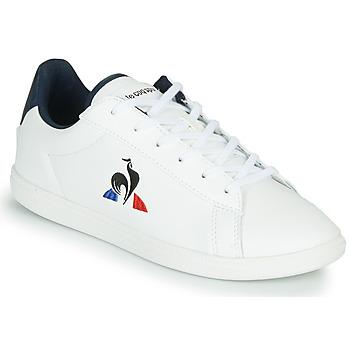 Sapatos Criança Sapatilhas Le Coq Sportif COURTSET GS Branco / Azul