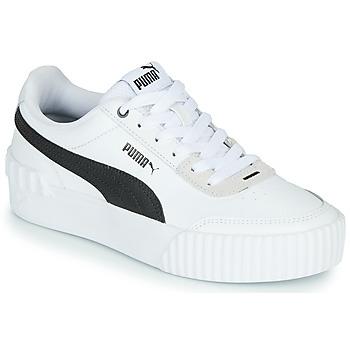 Sapatos Mulher Sapatilhas Puma CARINA LIFT Branco / Preto / Cinza