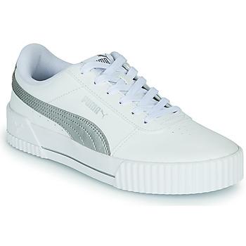 Sapatos Mulher Sapatilhas Puma CARINA Branco / Prateado