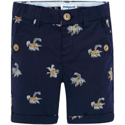Textil Rapariga Shorts / Bermudas Mayoral Bermuda estampado tigres Tinta azul