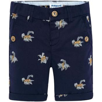 Textil Rapariga Shorts / Bermudas Mayoral Kids Bermuda estampado tigres Tinta azul