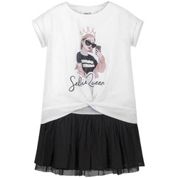 Textil Rapariga Vestidos curtos Mayoral Vestido combinado Blanco blanco