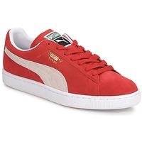 Sapatos Homem Sapatilhas Puma SUEDE CLASSIC + Vermelho / Branco