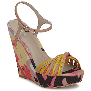 Sapatos Mulher Sandálias Bourne KARMEL Bege / Multicolor