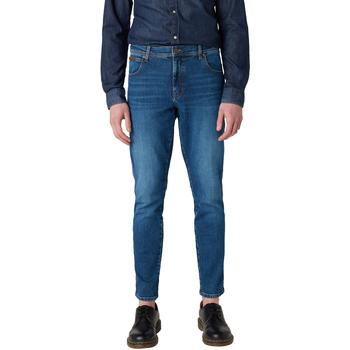 Textil Homem Calças de ganga slim Wrangler Clothing - Texas slim jeans W12ST112E BLU
