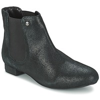 Sapatos Mulher Botas baixas Elle MABILLON Preto / Brilhante