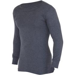 Textil Homem T-shirt mangas compridas Floso  Carvão vegetal