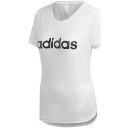 Textil Mulher T-Shirt mangas curtas adidas Originals D2M Logo Tee Branco