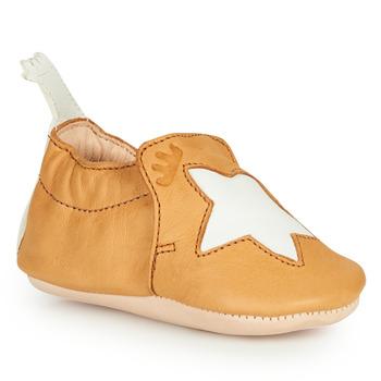 Sapatos Criança Chinelos Easy Peasy BLUMOO ETOILE Conhaque