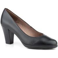 Sapatos Mulher Escarpim Par Y Medio Shoes Zapato de mujer de piel con tacón by Desiree Negro