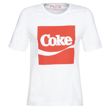 Textil Mulher T-Shirt mangas curtas Only ONLCOKE Branco
