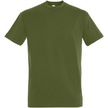 Textil Homem T-Shirt mangas curtas Sols 11500 Khaki escuro