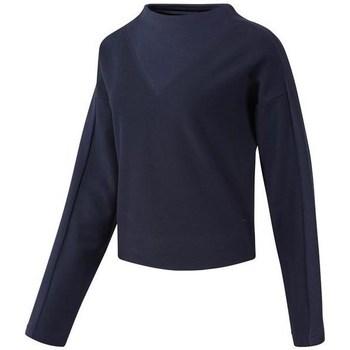 Textil Mulher Sweats Reebok Sport TE Twill Cowl Neck Azul marinho