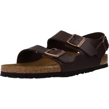 Sapatos Homem Sandálias Birkenstock MILANO BF Marron