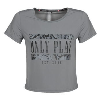 Textil Mulher T-Shirt mangas curtas Only Play  Cinza