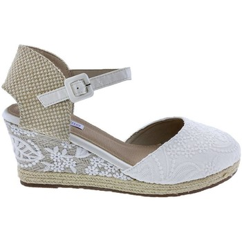Sapatos Mulher Alpargatas Mandarina Shoes Cuña Mandarina Laura Blanco Branco