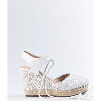 Sapatos Mulher Alpargatas Mandarina Shoes Cuña Mandarina Elena Blanco Branco