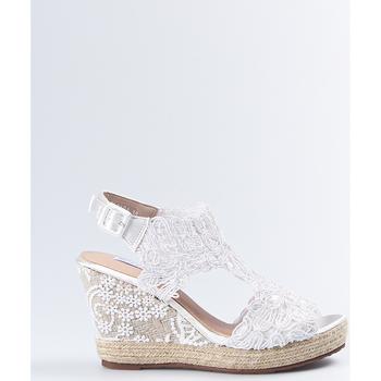 Sapatos Mulher Sandálias Mandarina Shoes Cuña Mandarina Sara Blanco Branco