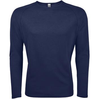 Textil Homem T-shirt mangas compridas Sols SPORT LSL MEN Azul