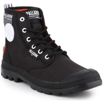 Sapatos Homem Botas baixas Palladium Manufacture Pampa Lite Overlab Preto