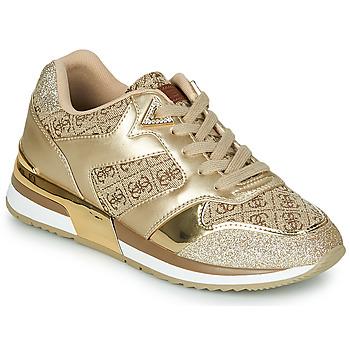 Sapatos Mulher Sapatilhas Guess MOTIV Ouro