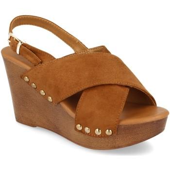 Sapatos Mulher Sandálias Prisska Y5627 Camel