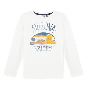 Textil Rapaz T-shirt mangas compridas 3 Pommes 3R10005-19-C Branco