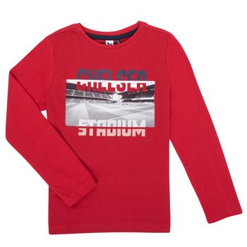 Textil Rapaz T-shirt mangas compridas 3 Pommes 3R10015-37-C Vermelho