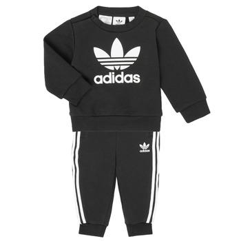 Textil Criança Conjunto adidas Originals CREW SET Preto